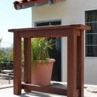 gvandy's picture Outdoor Bar Height Table, Woodworking Plans, Woodworking Projects, Small Wooden Desk, Bookshelf Plans, Ana White, Table Plans, Diy Table, Easy Diy Projects