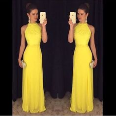 Yellow Prom Gowns,Lace Prom Dresses,New Prom Gowns,Yellow Evening Gown,Party Dresses