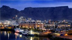 Cape Town, South Africa looks beautiful Places Around The World, The Places Youll Go, Great Places, Places To Go, Cape Town Accommodation, Cape Town Tourism, Pretoria, City Skyline Night, V&a Waterfront