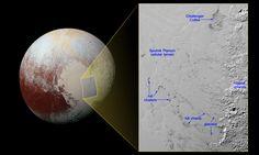 НАСА показало снимок айсбергов Плутона