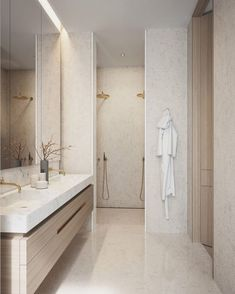 Home Interior Warm Badezimmer Inspiration.Home Interior Warm Badezimmer Inspiration Bathroom Design Inspiration, Bad Inspiration, Modern Bathroom Design, Bathroom Interior Design, Design Ideas, Design Projects, Interior Modern, Design Trends, Diy Projects
