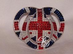 Baby Bling Pacifier Union Jack by thedazzlediva96 on Etsy, $69.00