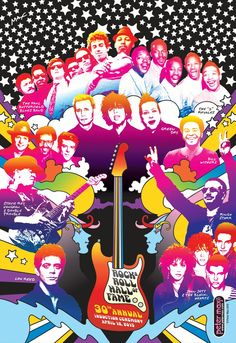 Rock & Roll Hall of Fame Poster