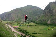 Let yourself be lifted up: Zip Lining In the Sacred Valley in Peru