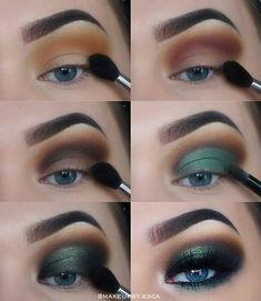 Drei wesentliche Make-up-Tipps: Lidschatten – Dress Models # three # green eyeshadow looks # eyeshadow # makeup tips # essential three essential makeup tips: eye shadow ignore the Makeup Hacks, Eye Makeup Tips, Eyeshadow Makeup, Makeup Inspo, Makeup Art, Beauty Makeup, Makeup Ideas, Makeup Products, Blue Eyeshadow