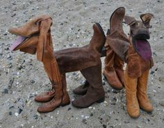 Dogs made from old rubber boots   1 Design Per Day
