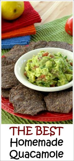 Homemade quacamole dip is so delicious and healthy! This is the best recipe and I use it all the time! By @DinnerMom