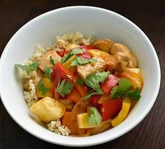 Anyone Craving Chinese food this Saturday evening?  😋🍲🍣 Toss those takeout menus aside and make this healthy Sweet and Sour Pork! All it takes is a little bit of prep, a quick marinade, and about 13 minutes of cooking — which means it'll probably be on your table faster than you can get to the restaurant and back! The recipe also works for Sweet and Sour Chicken if you make it using boneless, skinless chicken breasts. Enjoy!   For recipe visit my page FB.com/GetFitwithJanetTeamMarrero