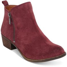 new style d5a48 af9f6 ... (129) ❤ liked on Polyvore featuring shoes, boots, ankle booties, ruby  wine, short boots, lucky brand boots, lucky brand booties and short booties