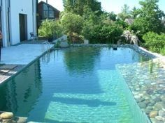 Biopiscine piscine naturelle Pool Spa, Swimming Pool Pond, Natural Swimming Ponds, Natural Pond, Swimming Pool Designs, Barn Pool, Dream Pools, Beautiful Pools, Outdoor Landscaping