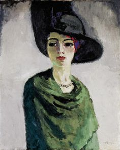 fuckyeahmodernflapper:  Lady in a Black Hatby Kees van Dongen, 1908 (Hermitage Museum, St.Petersburg). A collective image of a femme fatale.