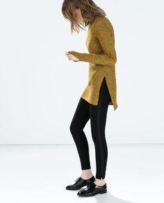 even like a tuxedo stripe on a legging // LEGGINGS WITH SIDE STRIPE from Zara