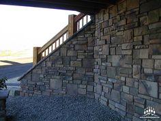 Our @gsharrisco Chief Joseph (Color: Summit) looks great on this custom home!  ----- www.KodiakMountain.com  ----- #KodiakMountainStone    #HomeBuilding #HomeBuilder #HomeBuilders #CustomHomes #Luxury #LuxuryHome #Construction #RealEstate #fireplace #architect #designer #contractor #interiorhome #Builder #picofday #Lethbridge #homedesign #Alberta #bestoftheday #instadaily #GaryVeeChallenge #homestyle #homeconstruction #dreamhome #renovation #stoneveneer #stonework #masonry #house Chief Joseph, Stone Veneer, Stone Work, Home Fashion, Home Builders, Custom Homes, Luxury Homes, Building A House, Stairs