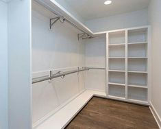 20 Incredible Small Walk-in Closet Ideas & Makeovers Do you need to whip your small walk-in closet into shape? You will love these 20 incredible small walk-in closet ideas and makeovers for some inspiration! Walk In Closet Design, Bedroom Closet Design, Master Bedroom Closet, Closet Designs, Diy Bedroom, Master Closet Layout, Bathroom Closet, Master Bedrooms, Master Suite