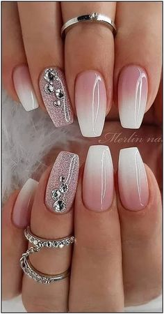 cute and amazing ombre nails design ideas for summer part 13 - # . , cute and amazing ombre nails design ideas for summer part 13 - # amazing Ombre Nail Designs, Winter Nail Designs, Nail Art Designs, Ombre Nail Colors, Elegant Nail Designs, Color Nails, Cute Acrylic Nails, Cute Nails, Christmas Gel Nails