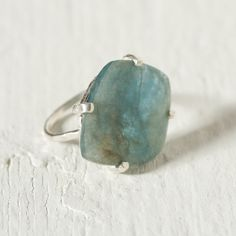 Aquamarine & Silver Ring in Jewelry+Accessories JEWELRY Bracelets+Rings at Terrain