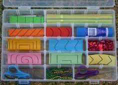 Maletín para trabajar el corte con las tijeras estilo Montessori con patrones imprimibles -Orientacion Andujar