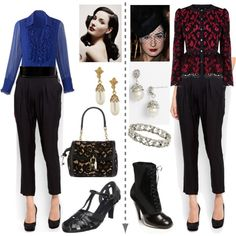 A fashion look from October 2012 featuring coldwater creek tops, lace jacket and mango pants. Browse and shop related looks.