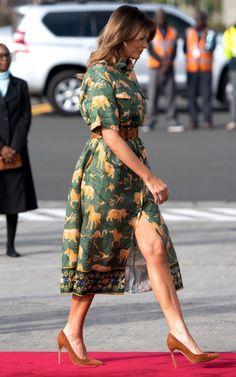 First Lady Melania Trump, Kenya, Trump Melania, Melania Knauss Trump, First Lady Melania Trump, Milania Trump Style, Melina Trump, Elegantes Outfit Frau, Star Fashion, Womens Fashion, Fashion Looks