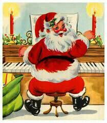 The Teaching Studio: Classical Christmas Piano Music Vintage Christmas Images, Retro Christmas, Vintage Holiday, Christmas Pictures, Christmas Fabric, Victorian Christmas, White Christmas, Vintage Images, Christmas Piano Music