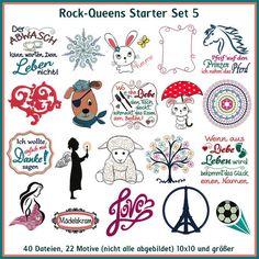 Rock-Queen, Stickdateien, embroidery, design, Nähen, Sticken, Applique