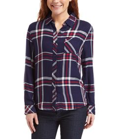 Look what I found on #zulily! beachlunchlounge Navy Leigh Button-Up by beachlunchlounge #zulilyfinds