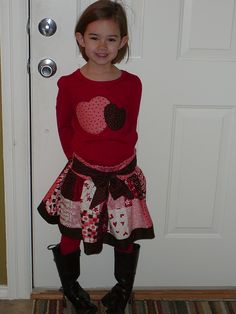 Valentine outfit :) - this would be so cute!