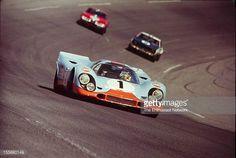 Jo Siffert Brian Redman drive their JW Engineering Porsche Gulf 917 K