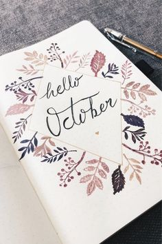 If you're looking for some new October monthly cover ideas to try in your bullet journal, then you need to check out these super fun and spooky spreads! Bullet Journal School, Bullet Journal Leaves, Bullet Journal Agenda, Bullet Journal Month, Bullet Journal Cover Ideas, Bullet Journal Lettering Ideas, Bullet Journal Notebook, Bullet Journal Aesthetic, Journal Covers