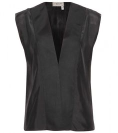 Lanvin Black Silk Top