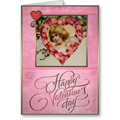 Valentines Day - Cupid and flower heart. Valentines Day - Greeting Cards in Vintage Style Vintage Style, Vintage Fashion, Valentine's Day Greeting Cards, Heart Cards, Cupid, Valentine Day Gifts, Best Gifts, Flowers, Fashion Vintage