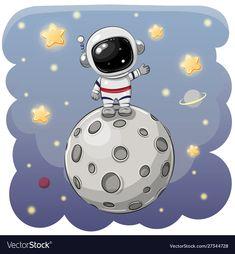 Cartoon astronaut isolated on a white background: comprar este vector de stock y explorar vectores similares en Adobe Stock Astronaut Cartoon, Astronaut Drawing, Astronaut Illustration, Space Illustration, Moon Cartoon, Cute Cartoon, Space Party, Space Theme, Astronauts On The Moon