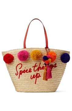Free shipping and returns on kate spade new york lewis way pompom tote at Nordstrom.com. A profusion of pompoms and tassels brings vacay vibes to this spacious straw tote, even if you're just shopping your local farmers' market.