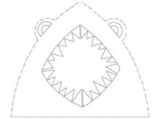 To make this shark hat, you will need: -Crayons -Scissors -The shark template -Stapler -Construction paper  Color the shark, cut it out and staple it to a strip of construction paper. Voila! Hat Template, Templates, Shark Hat, Sea Crafts, Kindergarten Crafts, Children Activities, Shark Week, Construction Paper, Stapler