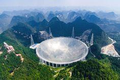 """""""Fast"""" ist das größte Radioteleskop der Welt. Es wurde  am 25. September in..."""