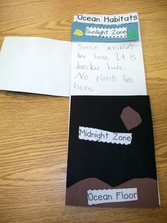 Here's a nice foldable idea on the zones of the ocean.