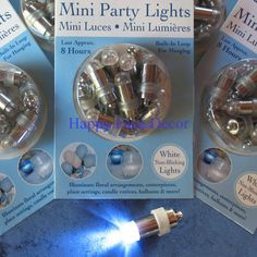 36 SUBMERSIBLE LED White Wedding PARTY LIGHTS Paper Lantern Balloon Centerpiece