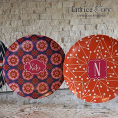 Personalized melamine plates! Lattice & Ivy