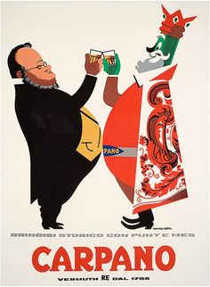 Armando Testa e Carpano, i re della pubblicità Vintage Wine, Vintage Ads, Vintage Prints, Turin, Advertising History, Advertising Space, Wine Poster, Italian Posters, Vintage Travel Posters