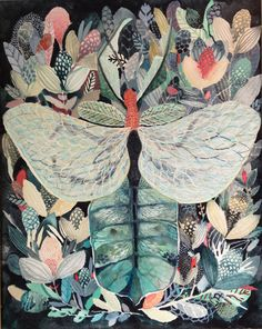 """""""Leaf Bug and Foliage"""" beautiful work by Michelle Morin"""