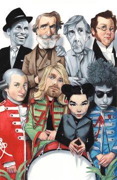 "Fernando Vicente - ""Babelia - El País"" -   Sinatra, Verdi, John Cage, Schubert,  Mozart, Kurt Cobain, Björk & Dylan"