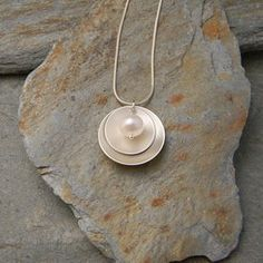 Silver And Pearl Necklace by Lisa Gent
