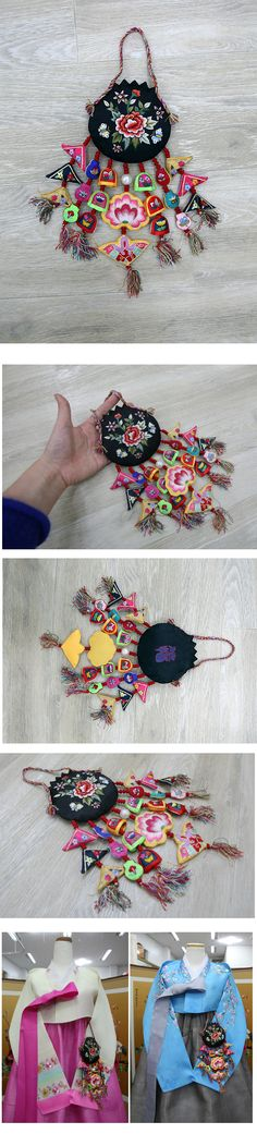 korean traditional ornaments for interioa, hanbok, 1st birthday party table high quality embroidery norigae