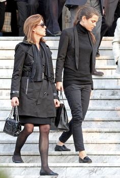 Laura Sabatini Casiraghi 's funeral. She was the former mother-in-law of Princess Caroline, and grandmother to the three Casiraghi offspring of Princess Caroline and her late husband Stefano Casiraghi.