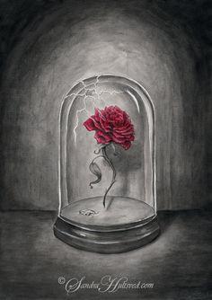 Enchanted Rose from Beauty and the Beast Arte Disney, Disney Magic, Disney Art, Disney Drawings, Cool Drawings, Enchanted Rose, Disney Beauty And The Beast, Beauty And The Beast Rose Tattoo, Disney Marvel