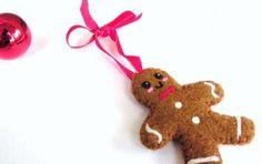 Lavoretti di Natale con il pannolenci - Omino per l'albero