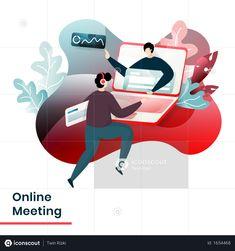 Business Illustrations, Pakistan Today, Landing Page Design, Flat Illustration, Red Background, Free Design, Masters, Illustrator, Concept