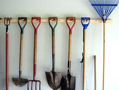 19 Bodacious Backyard Storage Ideas, Tips, And Hacks You Need To Try DIY garden tool organizer - han