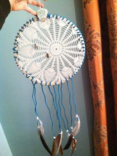Doily Dream Catcher DIY   Tales from a Cottage