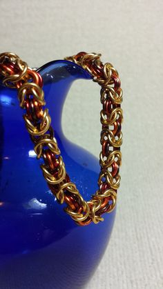 Autumn Byzantine Chainmaille Necklace on Etsy